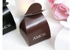 Boite dragee amour couleur chocolat