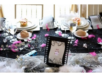 centre-de-table-clap-photo-mariage-theme-cinema