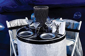 decoration-de-table-argent-noir-mariage-theme-cinema
