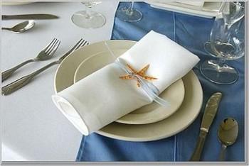 decoration-rond-de-serviette-table-pour-mariage-theme-mer-iles-plage ...
