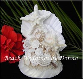 figurine-originale-pour-gateau-de-mariage-theme-mer-plage-coquillage