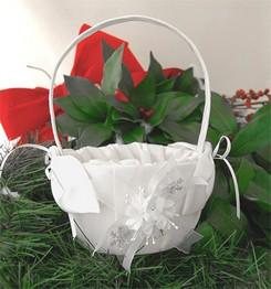panier decore pour petale de roses avec ruban - Panier Pour Petale Mariage